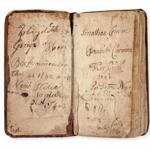 This copy of the Bay Psalm Book was once owned by Jonathan Corwin, a judge in the Salem witch trials, and his wife.