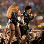 Beyonce, Chris Martin of Coldplay, and Bruno Mars performed during the Super Bowl 50 halftime show.