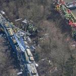 Rescue crews worked at the scene of a train collision near Bad Aibling, Germany, on Tuesday.