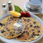 Trident's blueberry-filled buttermilk pancakes.