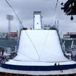 The action will start 140 feet above Fenway Park's center field, roughly four times the height of the Green Monster. From that breathtaking height (think of the light stanchions that encircle the park), some of the world's best freeskiers and snowboa