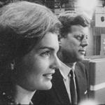 "Jacqueline Kennedy and John F. Kennedy in ""Primary."""