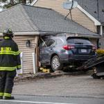 A car had plowed into a Billerica day care center with children inside on Thursday evening.