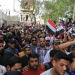 Followers of cleric Moqtada al-Sadr poured into the Green Zone in Baghdad on Saturday.