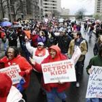 Ninety-four of Detroit's 97 public schools were closed Monday as 1,562 teachers heeded a request by their union.