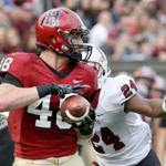 Harvard tight end Ben Braunecker signed a free agent deal with the Chicago Bears.