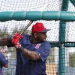 Boston Red Sox' Pablo Sandoval prepares to swing during batting practice before an exhibition spring training baseball game against the St. Louis Cardinals, Monday, March 21, 2016, in Jupiter, Fla. (AP Photo/Brynn Anderson)