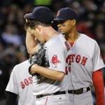 Starter Steven Wright allowed two runs on three hits in six innings for the Red Sox.