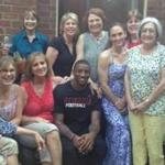 Kathy Rackley explains how Patriots receiver Malcolm Mitchell came to be a member of her book club in Athens, Ga. (Video by Jim McBride)
