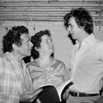 From left, actors Jerry Stiller, Angela Paton, and Frank Langella. Ms. Paton had 91 film and television credits.