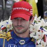 Alexander Rossi celebrated Sunday after winning the 100th Indianapolis 500.