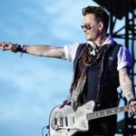 Johnny Depp performed with Hollywood Vampires in Herborn, Germany.