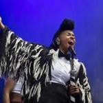 Janelle Monáe performs at Boston Calling.