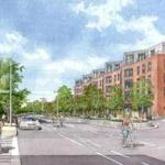 A proposed apartment building at Packard's Corner in Allston.