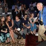Bill Cunningham at the Marc Jacobs Spring 2014 fashion show in September 2013.