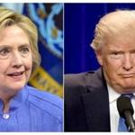 (FILES) This combination of file photos shows Democratic presidential candidate Hillary Clinton(L)on June 15, 2016 and presumptive Republican presidential nominee Donald Trump on June 13, 2016. Two head-to-head polls released Sunday showed a resurgent Hillary Clinton taking a lead in the US presidential race, after a tumultuous month for Donald Trump, who has failed to rally confidence among voters or party leaders.If the presidential election were held today, 51 percent of poll respondents said they would vote for Clinton, versus 39 percent for Trump, according to a Washington Post-ABC News poll on June 26, 2016. It was conducted Monday through Thursday of last week among 836 registered voters and had a margin of error of four percentage points. / AFP PHOTO / dskDSK/AFP/Getty Images