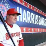 Matt LeCroy manages the Nationals' Double A team in Harrisburg.