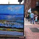 One of the painted utility boxes in and around Harvard Square.