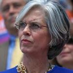 BOSTON, MA - 6/30/2016:Congresswoman Katherine Clark at a rally calling for gun violence reforms outside State House. Congresswoman Katherine Clark shared the national spotlight last week by organizing a sit-in to try to force action on gun legislation in Congress. Congressman Joseph Kennedy, House Speaker Robert DeLeo, Senate President Stan Rosenberg, Attorney General Maura Healey, Suffolk County Sheriff Steven Tompkins and other local officials and state lawmakers plan to hold a noon rally to push for