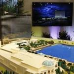 A model of the planned Wynn casino was presented during a press conference in March.