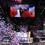 Balloons fell during the Republican convention Thursday.