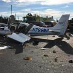 The plane that crashed at Barnstable Municipal Airport.