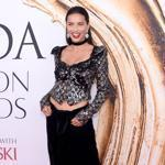 Model Adriana Lima attending the 2016 CFDA Fashion Awards in New York City.