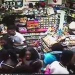 Surveillance videos taken at the ALFA Auto Fuel gas station and convenience store in Roslindale show a group of teenagers rushing into the store, throwing merchandise, and stealing ice cream and candy before running away.