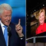 After President Clinton addressed the Democratic National Convention on Tuesday, nominee Hillary Clinton spoke to the audience via video.