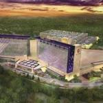 This architectural rendering shows the resort casino the Mashpee Wampanoag envisions building on its reservation in Taunton.