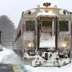 While the MBTA saw a marked improvement in performance during this month's storms as compared with 2015, some commuter rail trains still saw delays.