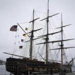 The Oliver Hazard Perry was docked in Boston Harbor in July.