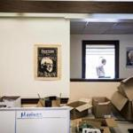 Signs were still on the walls of the former Bernie Sanders campaign headquarters in Burlington, Vt., last week, even as boxes were being packed.