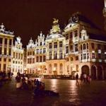 Top: Outside the majestic Grand-Place in Brussels.
