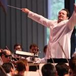 Andris Nelsons leading the BSO at Tanglewood earlier this month.