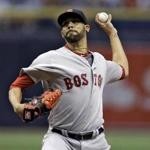 Boston Red Sox starting pitcher David Price delivers to the Tampa Bay Rays during the first inning of a baseball game Monday, Aug. 22, 2016, in St. Petersburg, Fla. (AP Photo/Chris O'Meara)