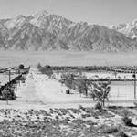 "Ansel Adams's ""Manzanar from Guard Tower."""