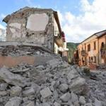 ARQUATA DEL TRONTO, ITALY - AUGUST 24: A view of buildings damaged by the earthquake on August 24, 2016 in Arquata del Tronto, Italy. Central Italy was struck by a powerful, 6.2-magnitude earthquake in the early hours, which has killed at least thirteen people and devastated dozens of mountain villages. Numerous buildings have collapsed in communities close to the epicenter of the quake near the town of Norcia in the region of Umbria, witnesses have told Italian media, with an increase in the death toll highly likely (Photo by Giuseppe Bellini/Getty Images) *** BESTPIX ***