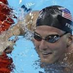 FILE - In this Aug. 2, 2016, file photo, U.S. swimmer James Feigen smiles during a swimming training session prior to the 2016 Summer Olympics in Rio de Janeiro, Brazil. Feigen apologized for the