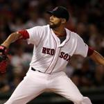 David Price allowed five hits and two runs and struck out seven in six innings of work.