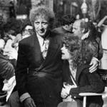 Gene Wilder and Gilda Radner on the set of the movie