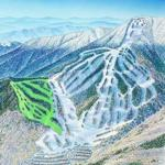 Map of planned new ski trails at Waterville Valley Resort in New Hampshire. Construction on the new slope, dubbed