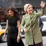 Longtime Hillary Clinton aide Huma Abedin (left) has won plaudits for her campaign instincts, her deep-rooted loyalty, and her glamorous style.