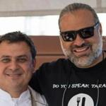 Chef Nick Calias of Brasserie JO and chef Jose Duarte of Taranta attended the roofTOP Chefs event at The Colonnade Hotel. €‹