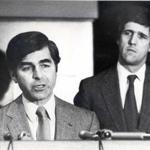 Boston, MA - Area A Station - Crime Control Governor Michael Dukakis and Lt. Governor John Kerry. 2/23/1983 BGLSCAN Library Tag Magazine 10182009