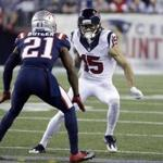 Patriots cornerback Malcolm Butler kept a close eye on Texans receiver Will Fuller Thursday night.