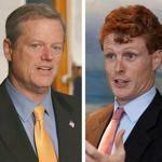 Governor Charlie Baker (left) and Congressman Joe Kennedy III.