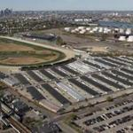 A statewide ballot question would aid developers hoping to build a slots parlor near Suffolk Downs (above).