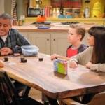 "From left: Hala Finley, Matt LeBlanc, Matthew McCann, and Grace Kaufman in CBS's ""Man With a Plan."""