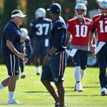 10/19/16: Foxborough, MA: Patriots head coach Bill Belichick is pictured during the part of the New England Patriots practice session that was open to the media. (Globe Staff Photo/Jim Davis) section: sports topic: Patriots